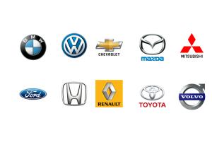 car make logos row